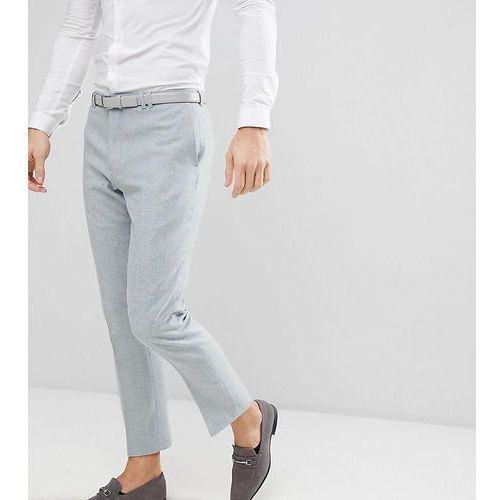 Noak slim stretch wedding suit trousers in donegal - Blue