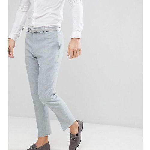 slim stretch wedding suit trousers in donegal - blue marki Noak