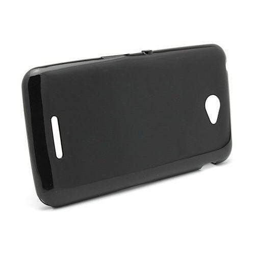 Silokonowe Etui Sony Xperia E4 Shining czarny, kolor czarny