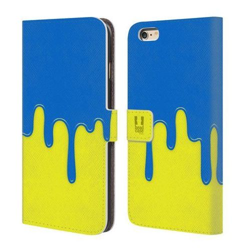 Head case Etui portfel na telefon - colour block meltdown blue yellow