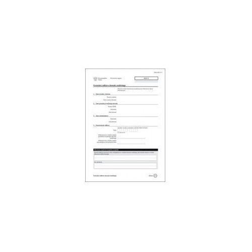 Formularz odbioru dowodu osobistego [do/f/1] marki Firma krajewski