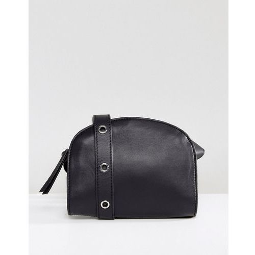 Pieces Leather Cross Body Bag - Black