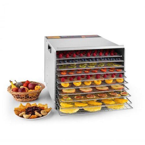 fruit jerky steel 10 automat do suszenia dehydrator 1000w 10 segmentów stal szlachetna marki Klarstein