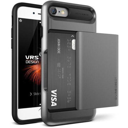 Etui VRS DESIGN Damda Glide do iPhone 7 Srebrno-stalowy z kategorii Futerały i pokrowce do telefonów
