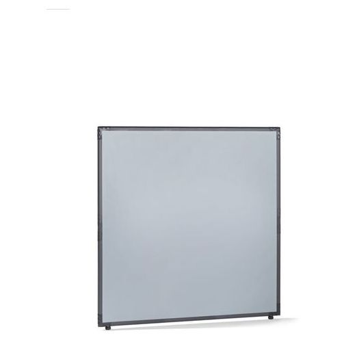 Ścianka działowa, tworzywo sztuczne, rama w kolorze szarym łupkowym, srebrno-sza marki Clipper system srl
