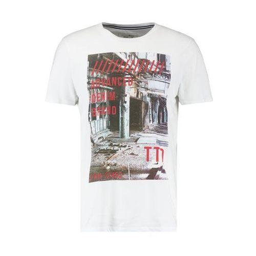 TOM TAILOR DENIM PHOTOPRINT CREWN Tshirt z nadrukiem white, 10553881012.  Najniższe ceny, najlepsze 3811173cb7