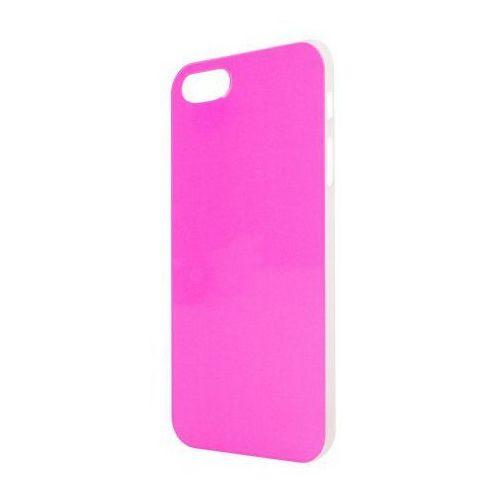 Etui XQISIT do Apple iPhone 5/5S iPlate Neonowy Różowy (4029948009926)