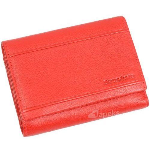 b-lux portfel skórzany damski rfid / 146-263-4 - czerwony marki Samsonite