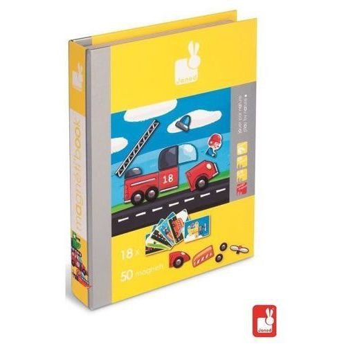 magneti book - książka magnetyczna - pojazdy marki Janod