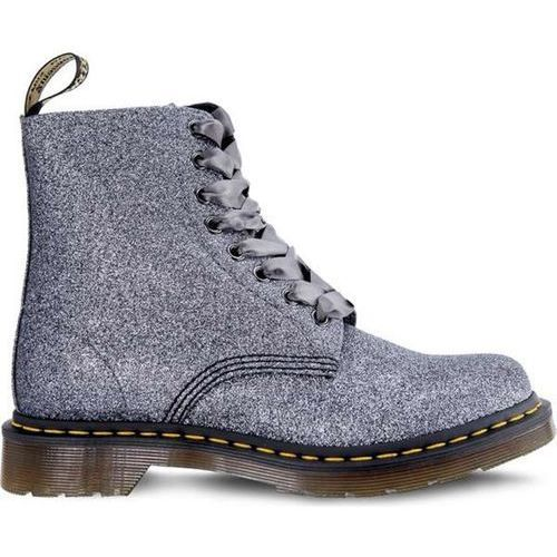 Dr Martens 1460 PASCAL GLITTER PEWTER - Buty Glany