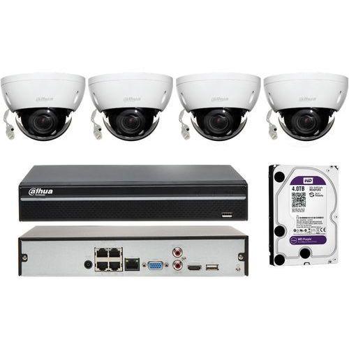 Dahua Zestaw do monitoringu na 4 kamery do identyfikacji osób i pojazdów