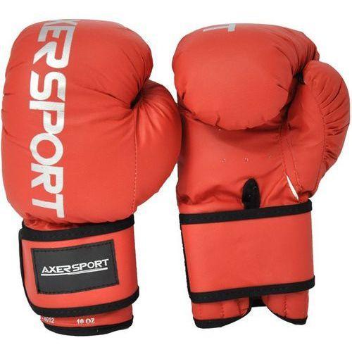 Axer sport Rękawice bokserskie  a1334 czerwony (10 oz) + darmowy transport!