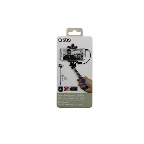 Sbs Kijek do selfie mini selfie stick jack 3,5 mm niebieski teselfishaftminia (8018417216527)