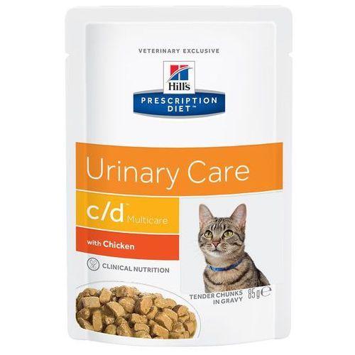 Hills Prescription Diet Feline c/d Urinary Care, kurczak w sosie - 12 x 85 g