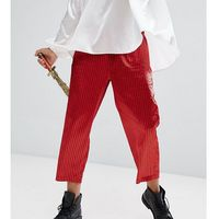 inspired relaxed trousers in stripe - red marki Reclaimed vintage