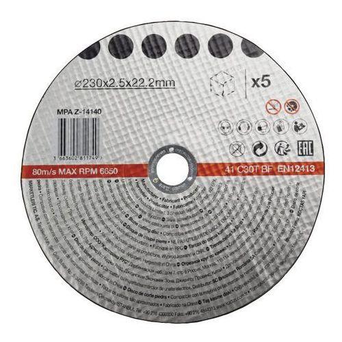 Zestaw tarcz do betonu 230 x 2,5 mm 5 szt.