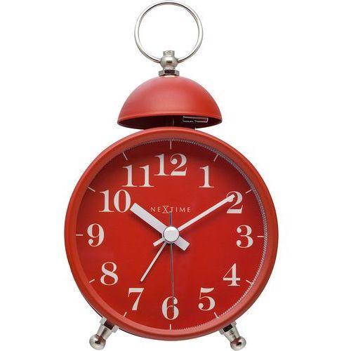 Budzik analogowy retro single bell czerwony (5213 ro) marki Nextime
