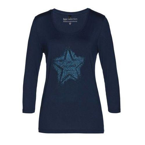 Bonprix Shirt z aplikacją czarny