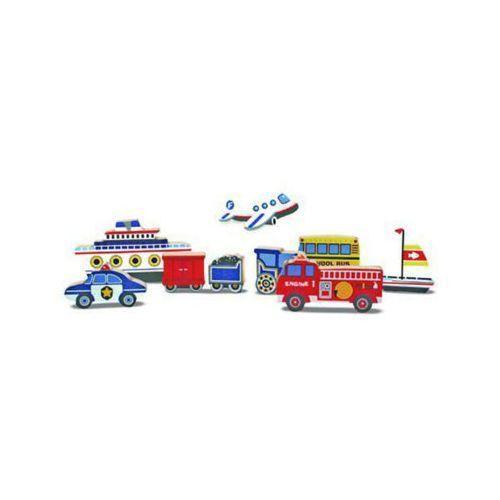 Melissa & doug Puzzle drewniane pojazdy 13725