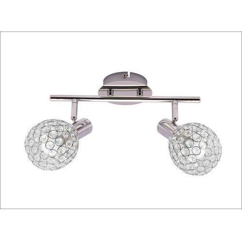 klara kr 322-2l listwa lampa sufitowa plafon spot 2x40w e14 chrom marki Krislamp