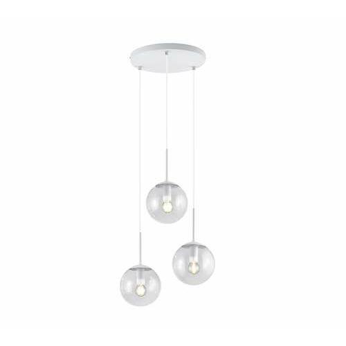 Trio Balini 308590331 lampa wisząca zwis 3x28W E14 biała/transparentna (4017807468632)