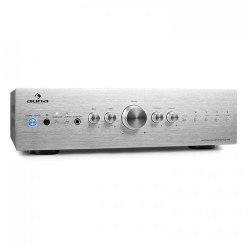 Auna cd708 wzmacniacz stereo aux phono srebrny 600w (4260322374883)