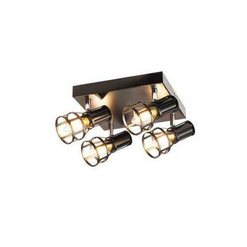 Plafon lampa sufitowa spot Rabalux Aria 4x40W E14 czarny mat 5961, 5961