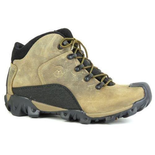 Trzewiki męskie trekkingowe 4163 - beż marki Badura