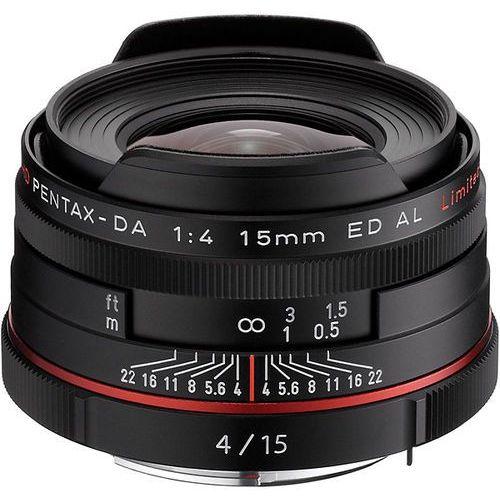Pentax hd da 15mm f/4 limited (czarny) - przyjmujemy używany sprzęt w rozliczeniu   raty 20 x 0%