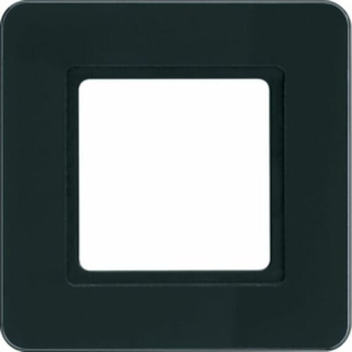 Q.7 Ramka 1-krotna do modułu podświetlenia LED, szkło, czarne 10116176, kolor czarny