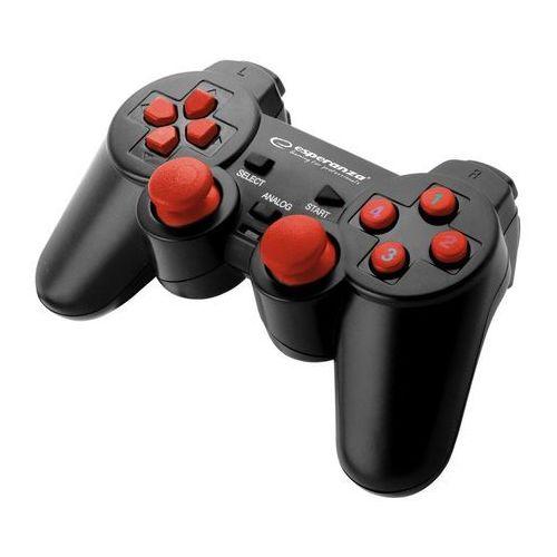 gamepad pc usb warrior czarno/czerwony marki Esperanza