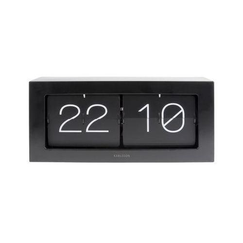 Zegar stołowo/ścienny Flip Clock Boxed XL black by Karlsson