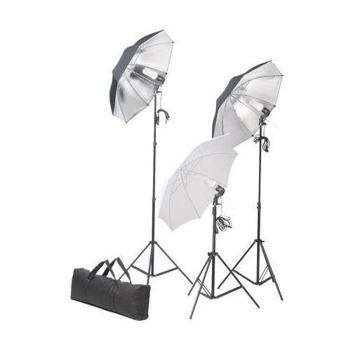 zestaw oświetleniowy do studio ze statywami i parasolkami marki Vidaxl