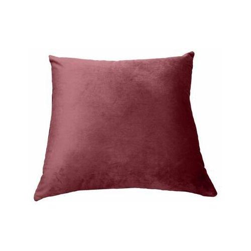 Poduszka welurowa tony bordowa 45 x 45 cm marki Inspire