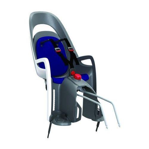Fotelik rowerowy Hamax Caress szaro-biały, niebieska wyśćiółka