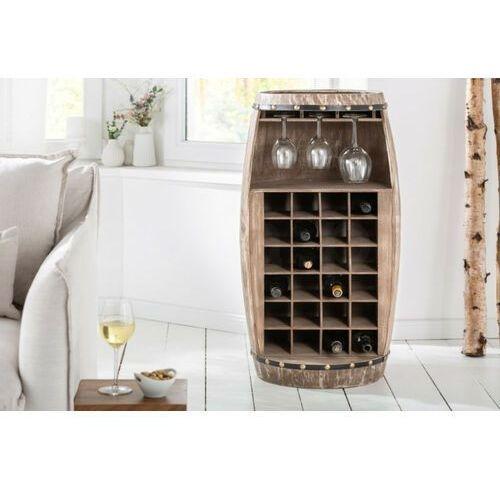Sofa.pl Invicta stojak na wino bodega halb 97 cm - drewno naturalne
