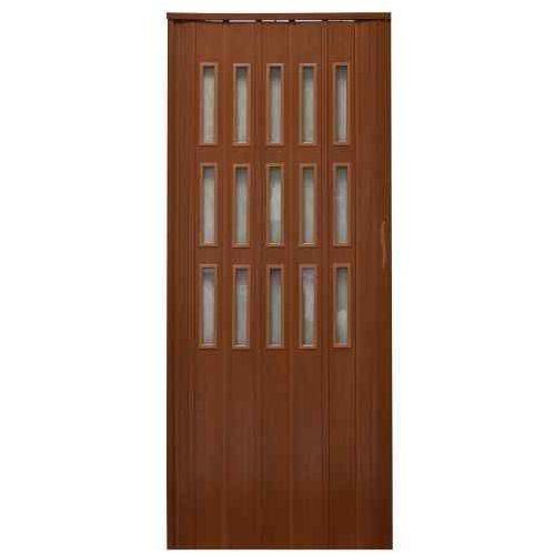 Drzwi harmonijkowe 008s 029 mahoń mat 80 cm marki Gockowiak