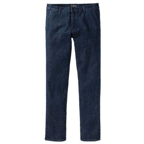 Spodnie ze stretchem z wstawkami i zamkami bordowo-czarny marki Bonprix