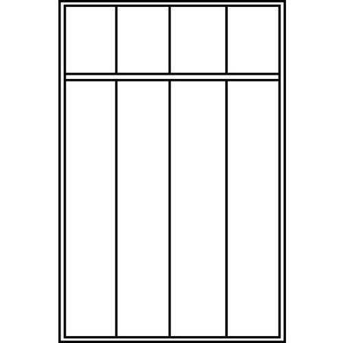 C+p möbelsysteme Szafa szatniowa evolo,z nóżkami z tworzywa, 4 przedziały, szer. przedziału 400 mm