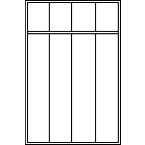 Szafa szatniowa evolo,z nóżkami z tworzywa, 4 przedziały, szer. przedziału 400 mm marki C+p möbelsysteme