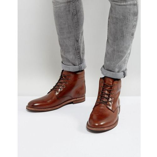 lace up boots in brown leather - brown marki Dune