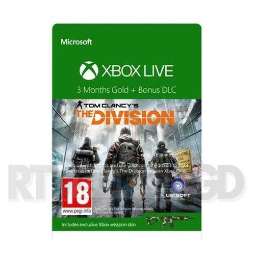 Subskrypcja Xbox Live Gold The Division (3 m-ce) - produkt w magazynie - szybka wysyłka!, 52K-00280