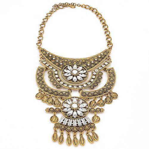 Kolia dekoracyjna złota i - gold marki By milla