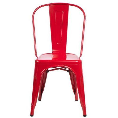 Krzesło Paris inspirowane Tolix - czerwony, kolor czerwony
