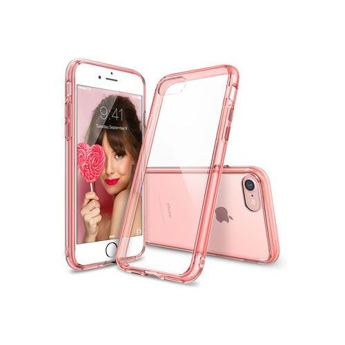 Apple iPhone 8 - etui na telefon Ringke Fusion - różowy