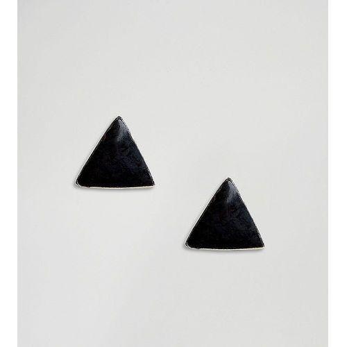 Kingsley Ryan Sterling Silver Black Triangle Stud Earrings - Black, kolor czarny