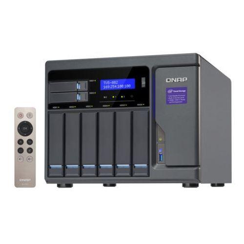 Serwer NAS QNAP TVS-882-i5-16G, Intel® Core™ i5-6500 3.6 GHz Quad core processor, RAM 16GB DDR4 (Max. 32GB)