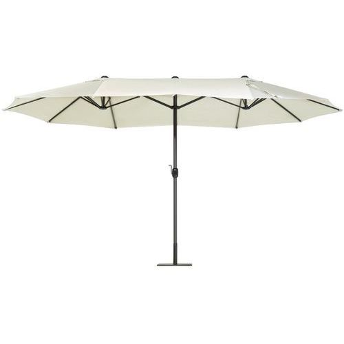 Duży parasol ogrodowy 460 cm - beżowy sibilla marki Beliani