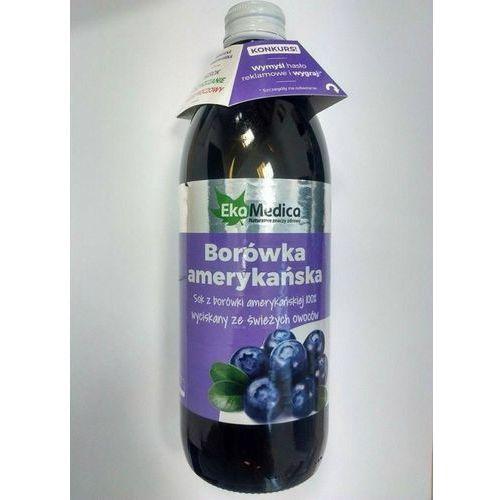 Sok z Borówki amerykańskiej 100 % (500 ml) EkaMedica
