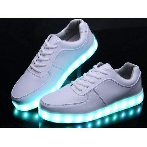 Buty LED - świecące podświetlane buty z ledową podeszwą., kolor biały, od rozmiaru 35